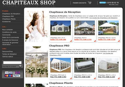Chapiteaux Shop - vente de chapiteaux de réception
