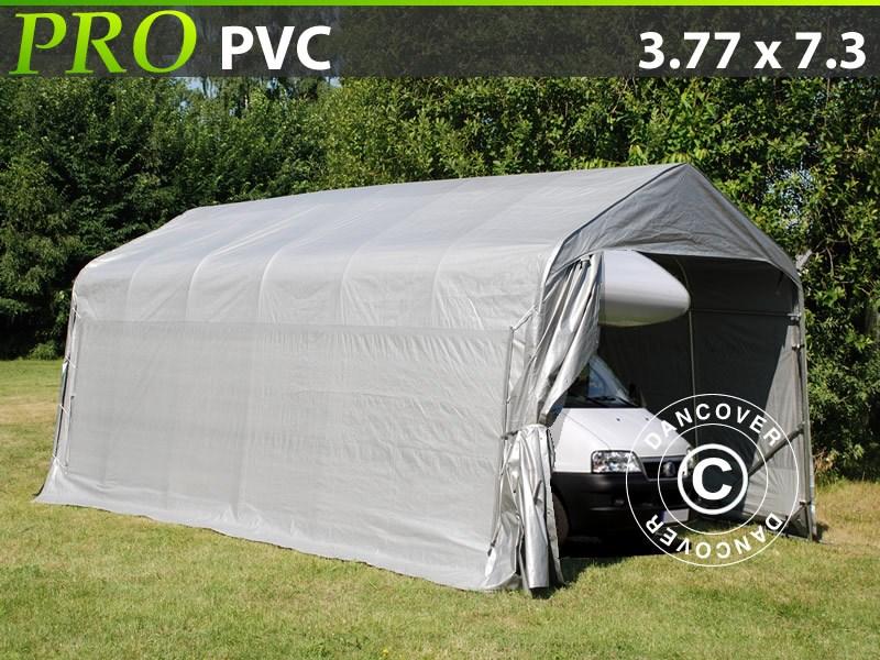 Tente abris-PRO-3.77X7.3X3.24X2.74-M-PVC