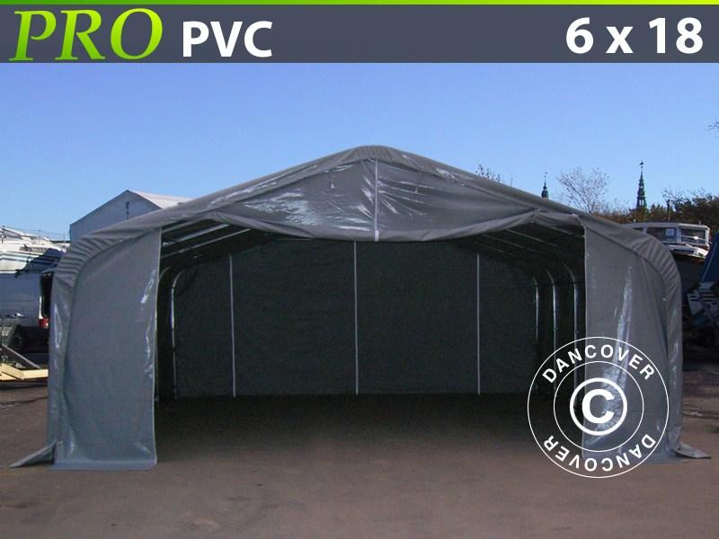 Hall de stockage-PRO-6X18X37-M-PVC